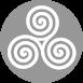 curve ontwerp icoon grijs